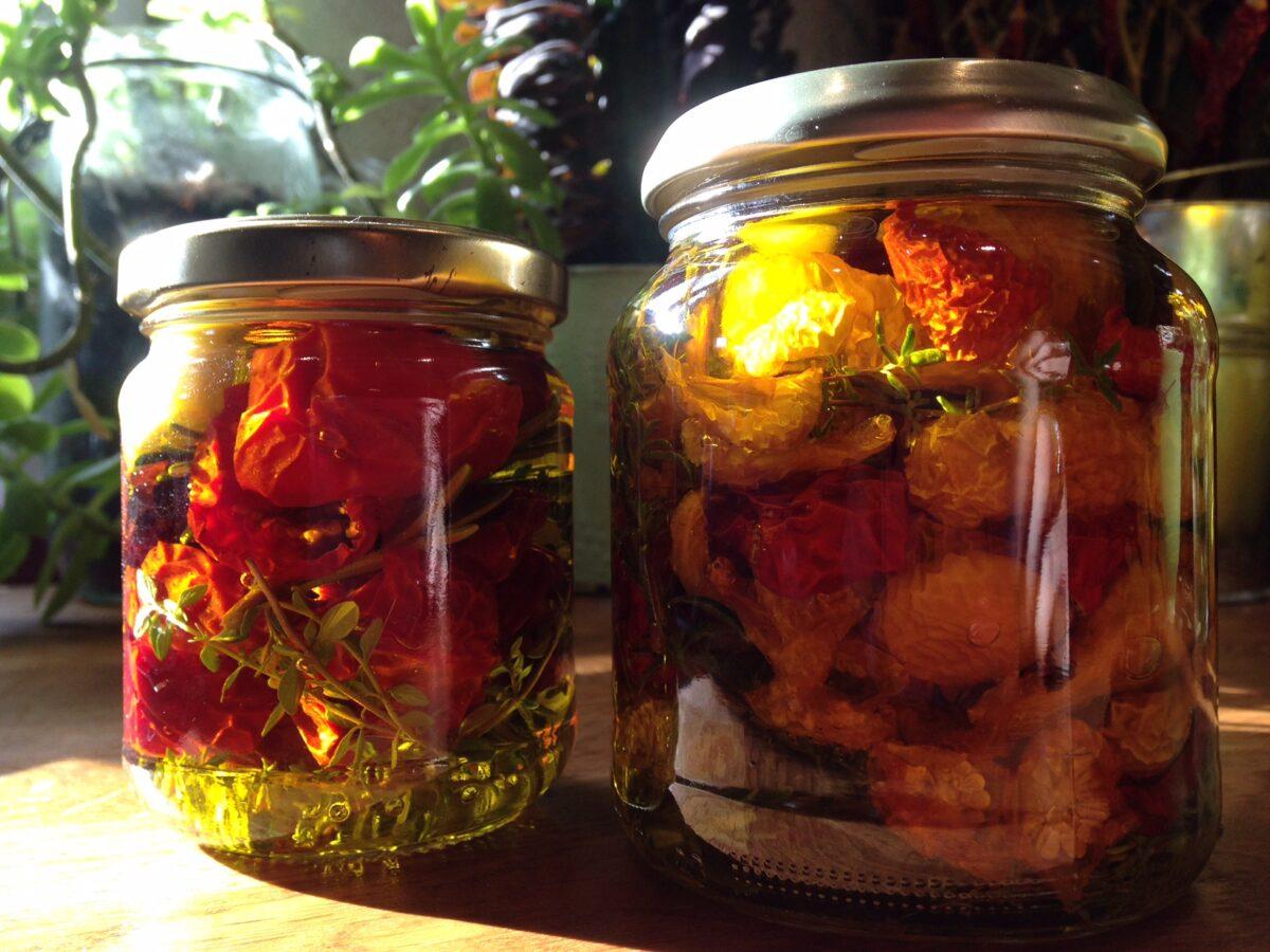 Recette Tomates cerises séchées à l'huile