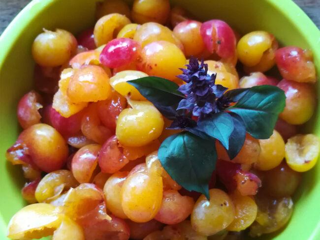 Recette Sorbet aux mirabelles aromatisé au basilic